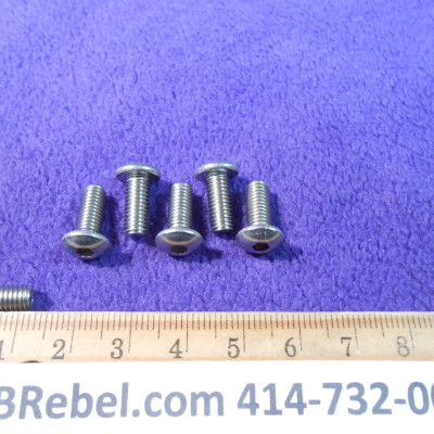 6 Stainless Steel Bolts Size 5mm X 12mm