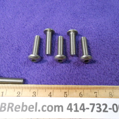 6 Stainless Steel Bolts Size 5mm X 20mm