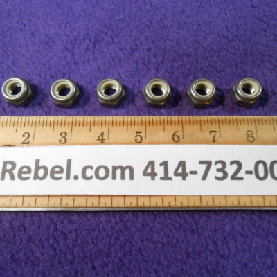 6 Stainless Steel Nyloc Nuts Size 5mm