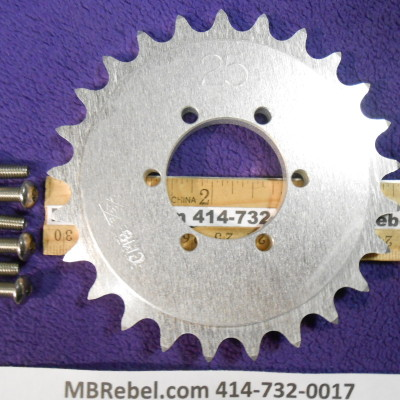 DISC 25 TOOTH SPROCKET fits 415 Chain
