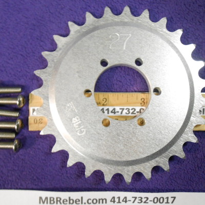 DISC 27 TOOTH SPROCKET fits 415 Chain