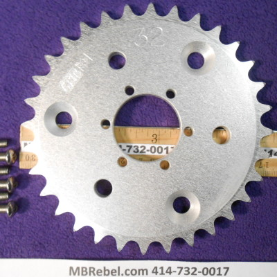 DISC 32 TOOTH SPROCKET fits Sprocket Adapter and 415 Chain