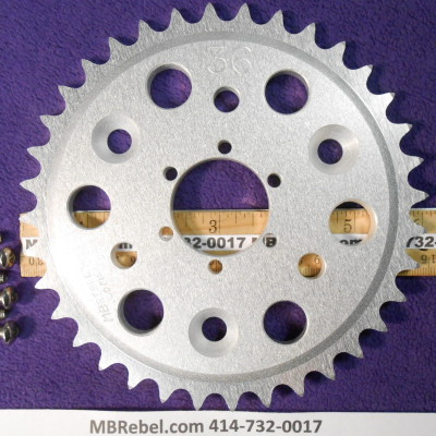 DISC 36 TOOTH SPROCKET fits Sprocket Adapter and 415 Chain