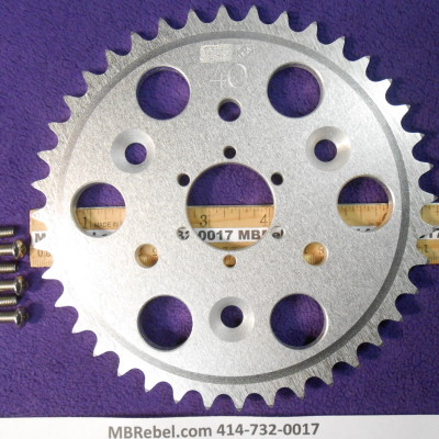 DISC 40 TOOTH SPROCKET fits Sprocket Adapter and 415 Chain
