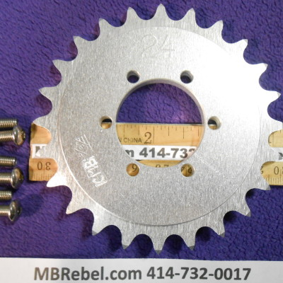 DISC HUB 24 TOOTH SPROCKET fits 415 Chain
