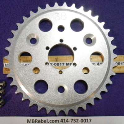 DISC 38 TOOTH SPROCKET fits Sprocket Adapter and 415 Chain