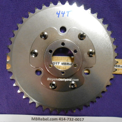 Offset Disc Sprocket Adapter and 44 Tooth Sprocket