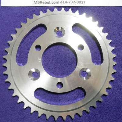 44 Tooth Sprocket Aluminum for 415 Chain