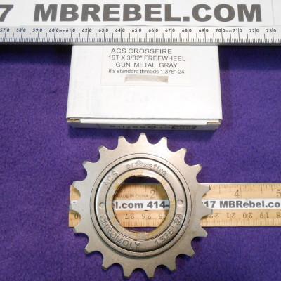 19 Tooth Freewheel Single Speed Gun Metal 12 X 332 ACS Crossfire