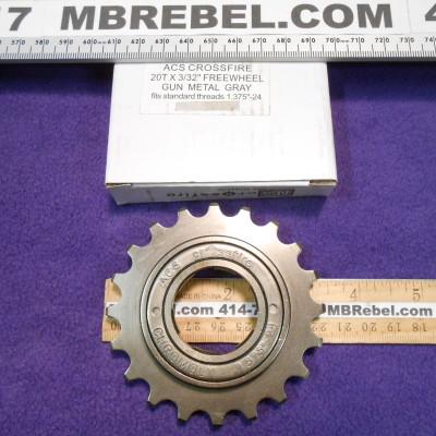 20 Tooth Freewheel Single Speed Gun Metal 12 X 332 ACS Crossfire