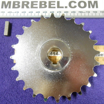 25 Tooth 58ths Bore Chrome Trike Axle Sprocket