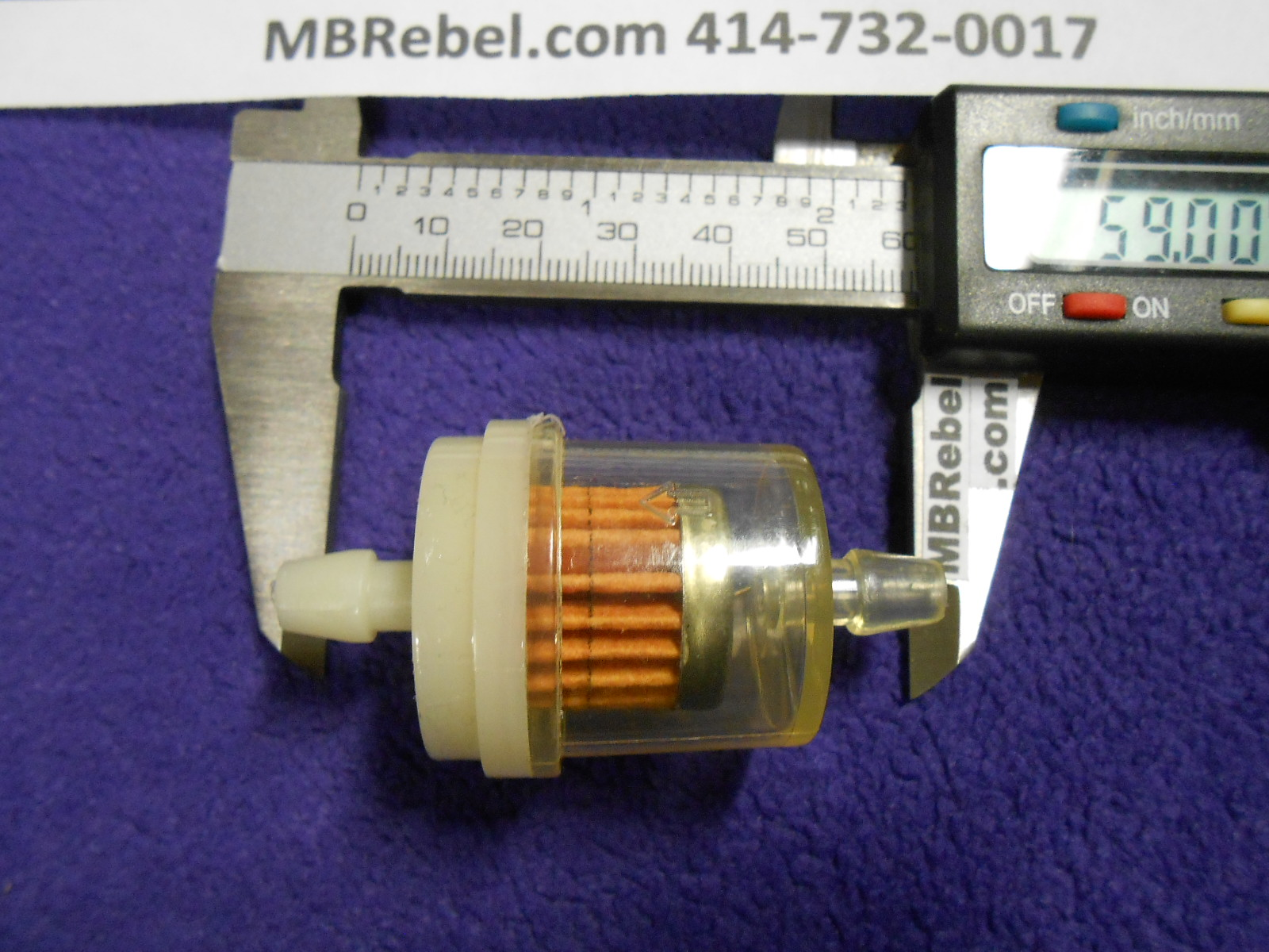 Clear Inline Fuel Filter ...