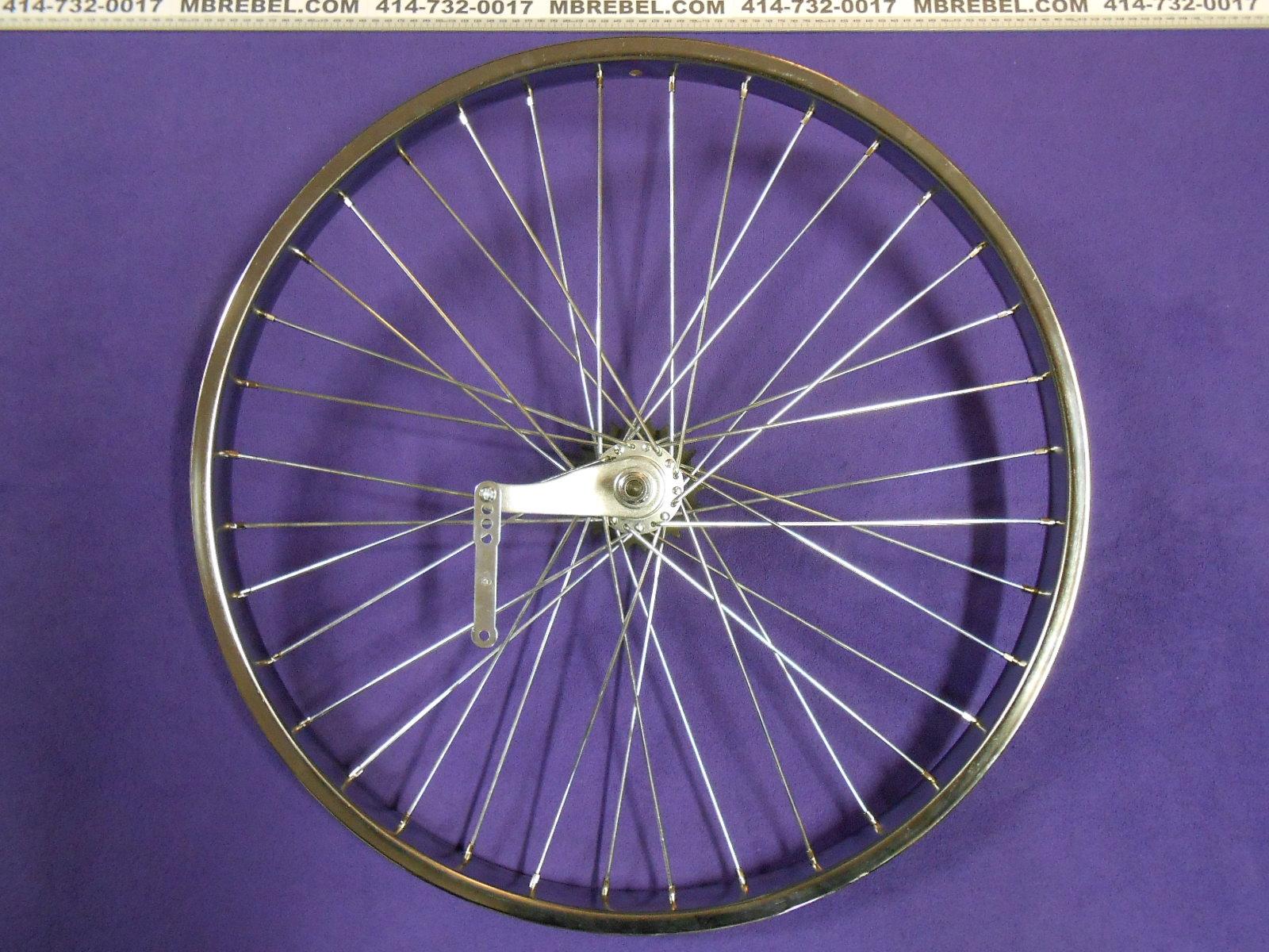 "Bicycle Wheel 26/"" x 2.125 x 12g Heavy Duty Rear Alloy Black Coaster Brake NEW"