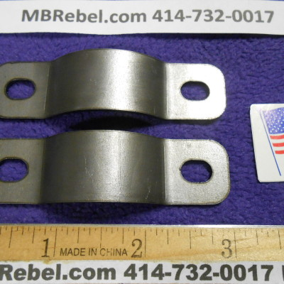 Pair OF 14 Gauge Gas Tank Bracket Straps U.S.A. Motorized Bicycle