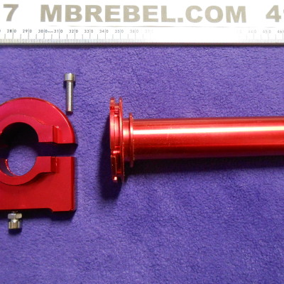 Red Aluminum Adjustable Throttle All Metal