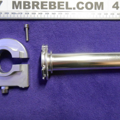 Silver Aluminum Adjustable Throttle All Metal 78ths Inch