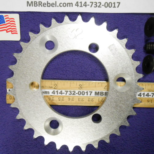 32 Tooth Sprocket for 415 or #41 Chain Fits Sprocket Adapters U.S.A.