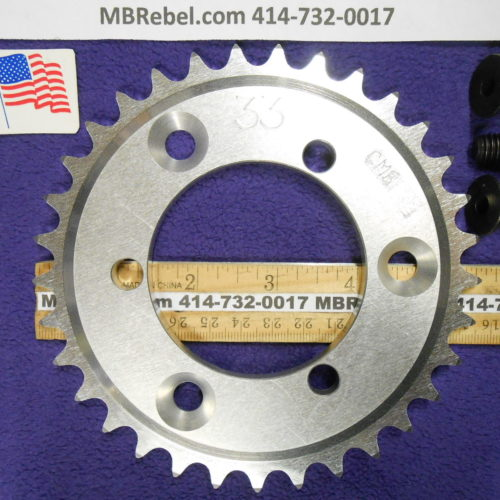 33 Tooth Sprocket for 415 or #41 Chain Fits Sprocket Adapters U.S.A.