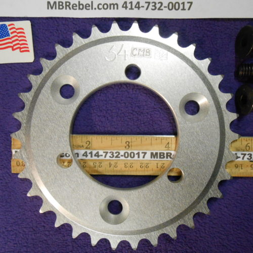 34 Tooth Sprocket for 415 or #41 Chain Fits Sprocket Adapters U.S.A.