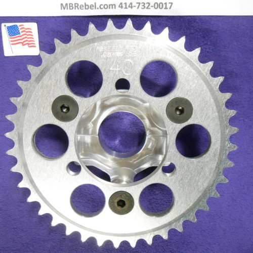 40 Tooth Sprocket & Adapter 1.5inch For Coaster Brake Hubs U.S.A.