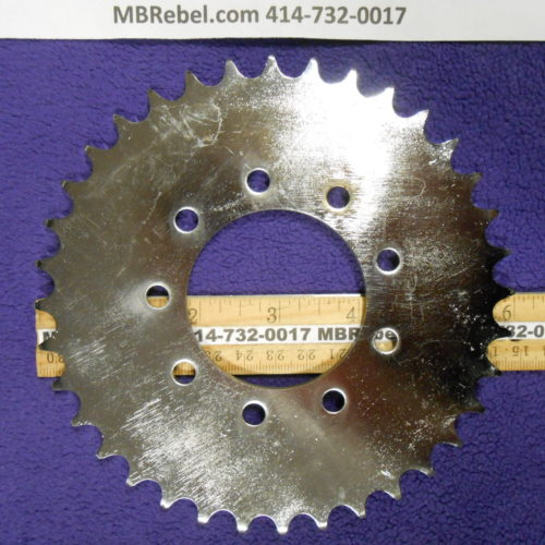 Bored Out 56mm 2416th Steel 36 Tooth Sprocket Rubber 9 Bolt Mount
