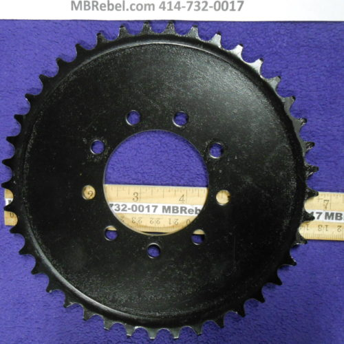 Bored Out 56mm 2416th Steel 41 Tooth Sprocket Rubber 9 Bolt Mount Black