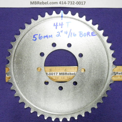Bored Out 56mm 2416th Steel 44 Tooth Sprocket Rubber 9 Bolt Mount
