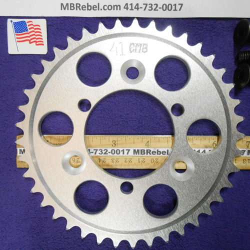 41 Tooth Sprocket for 415 or #41 Chain Fits Sprocket Adapters U.S.A.