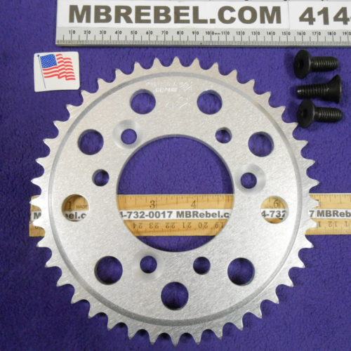 42 Tooth Sprocket for 415 or #41 Chain Fits Sprocket Adapters U.S.A. MBRebel.com
