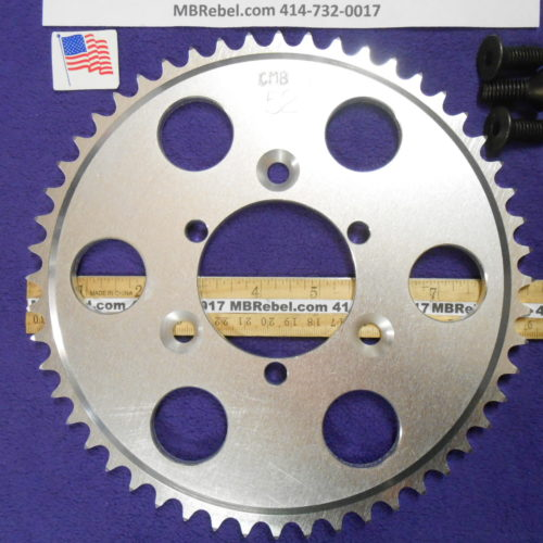 52 Tooth Sprocket for 415 or #41 Chain Fits Sprocket Adapters U.S.A.