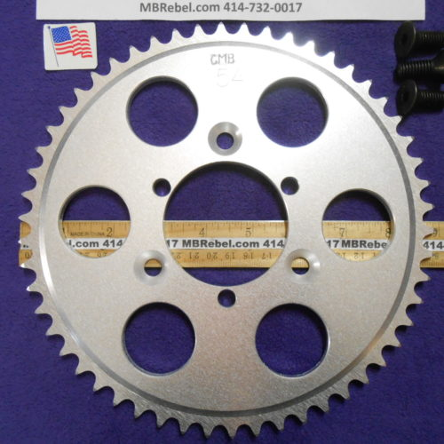 54 Tooth Sprocket for 415 or #41 Chain Fits Sprocket Adapters U.S.A.