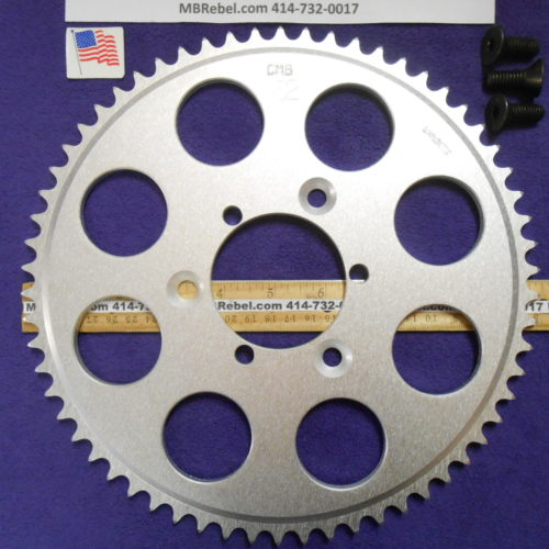 62 Tooth Sprocket for 415 or #41 Chain Fits Sprocket Adapters U.S.A.