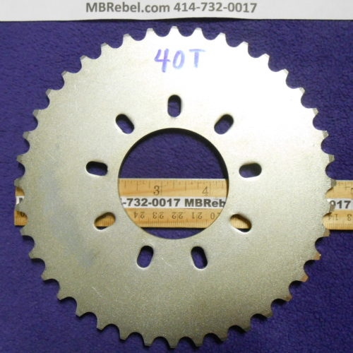Bored Out 56mm 2″416th Steel 40 Tooth Sprocket Rubber 9 Bolt Mount