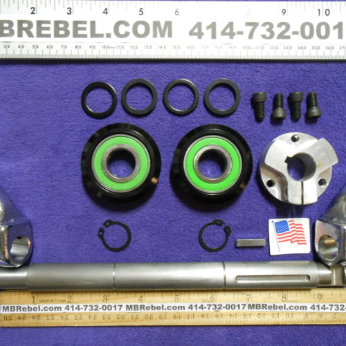 11 Inch Wide Sealed Pedal Crank Kit Cottered American