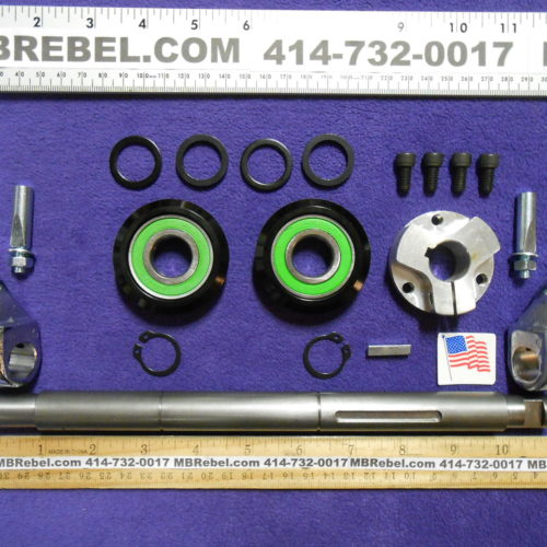 12 Inch Wide Sealed Pedal Crank Kit Cottered American