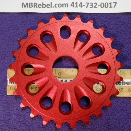 25 Tooth Alloy Pedal Sprocket Chainring Red