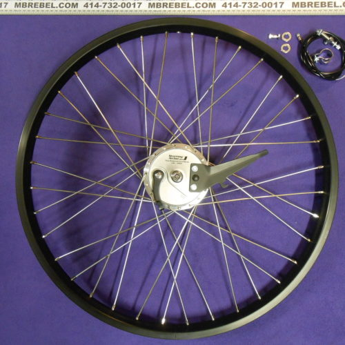 Alloy Double Wall Board Track 11 Gauge SS 26 X 2.125 38mm Wide Rim Black Front Sturmey Archer XL-FD 90mm Drum