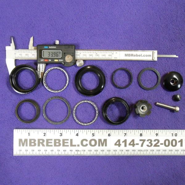 "Bicycle Head Set 1-1//8/""x34mmx30mm Threadless Black Steel"