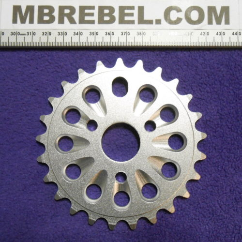 25 Tooth Alloy Pedal Sprocket Chainring Drilled for 34″inch I.D. STANDARD PEDAL SPROCKET HOLDER Silver