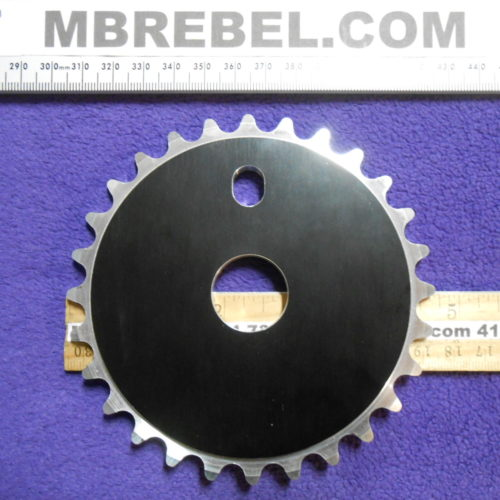 28 Tooth Black BMX Pedal Sprocket Chainring Aluminum