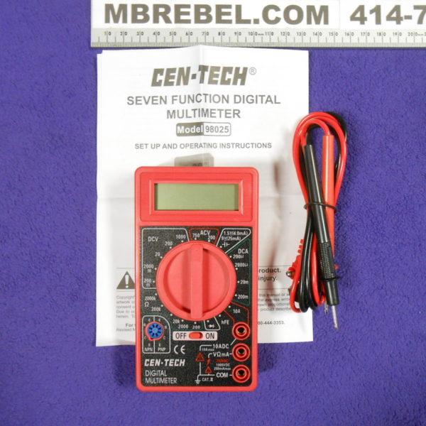Cen Tech Digital Meter : Digital multimeter cen tech mbrebel