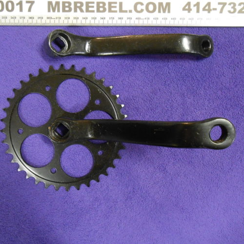 Wide Crank Arm Set 36 Tooth Black