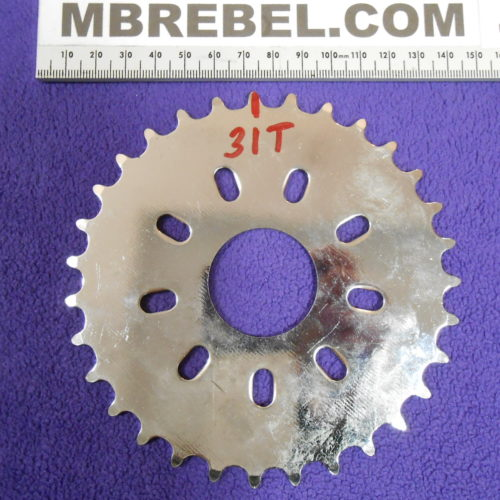 31 Tooth Sprocket Motorized Bicycle 415 Chain MBRebel.com