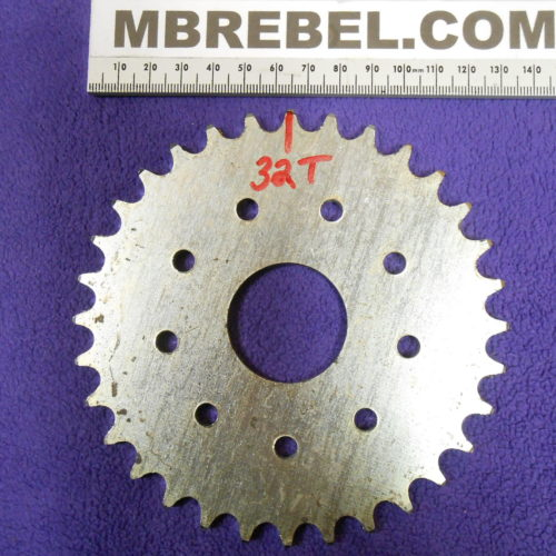32 Tooth Sprocket Motorized bicycle for 415 Chain MBRebel.com