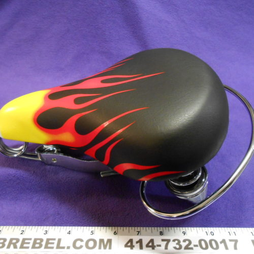 Flames Bicycle Seat Saddle Crash Rail Grab rail MBrebel.com