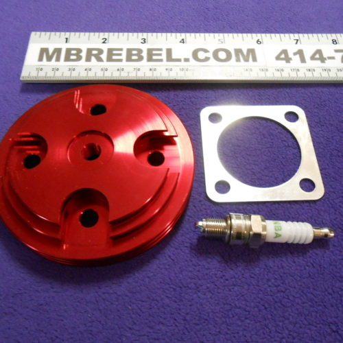 High Compression CNC Head 66cc80cc Red MBRebel.com