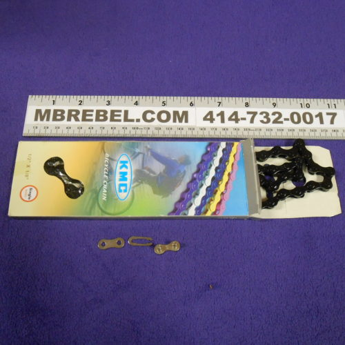 KMC Z410 BMX Bike Bicycle Chain Pedal Single Speed 12 X 118 MBRebel.com Black