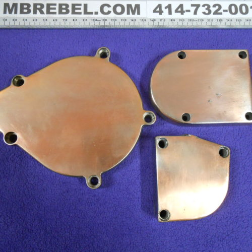 Polished To Copper Motorized Bicycle Case-Covers set of 3 - 49cc 66cc 80cc MBRebel.com