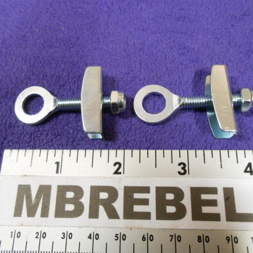 2 pcs Axle Chain Tug Tensioner Silver MBRebel.com