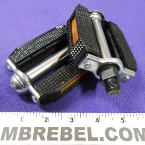Classic Hard Rubber Composite Bike Pedals 916 black MBRebel.com